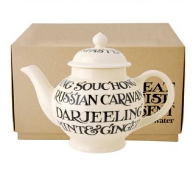 Emma Bridgewater Black Toast All Over Teapot