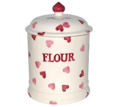 Emma Bridgewater Pink Hearts Flour Storage Jar