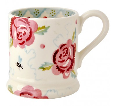 Emma Bridgewater Rose & Bee Half Pint Mug