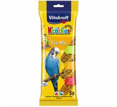 Vitakraft Budgie Kracker Triple Pack with Orange, Kiwi and Sesame and Apricot