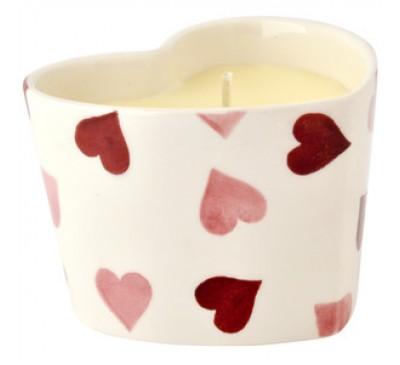 Emma Bridgewater Pink Hearts Candle