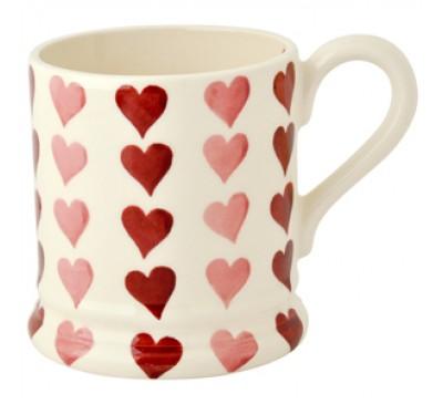 Emma Bridgewater Pink Hearts Stacked Half Pint Mug