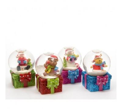 Christmas Present Snow Globes