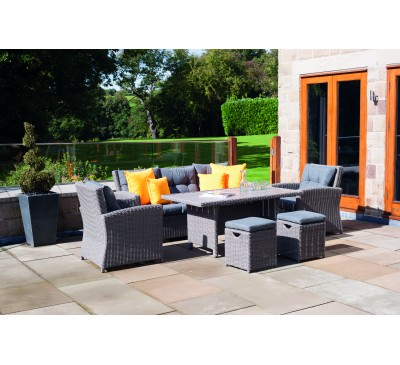 Borgetto Slate Grey 6 Piece Relaxed Dining Set
