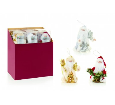 15cm Tree Top Santa Assorted Red Silver White