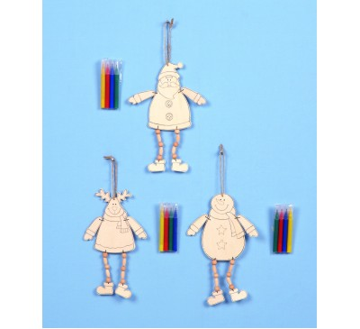 20cm Colour Your Own Hanging Decoration Assorted
