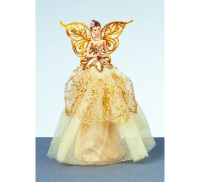 23cm Champagne Gold Angel in Battery Operated x