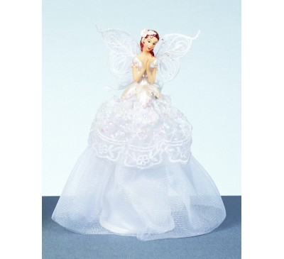 23cm White Angel in Battery Operated x