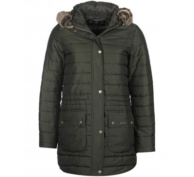Barbour Womens Ascott Quilted Sage Green Coat