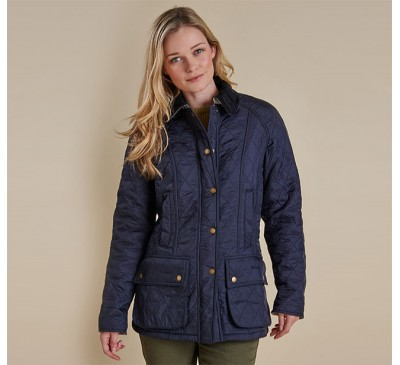 Barbour Womens Beadnell Polar Quilt Navy Jacket