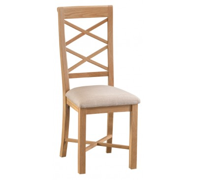 Calbeck Oak Double Cross Back Chair