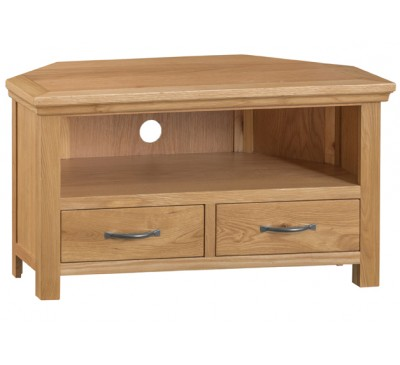Calbeck Oak Corner TV Unit