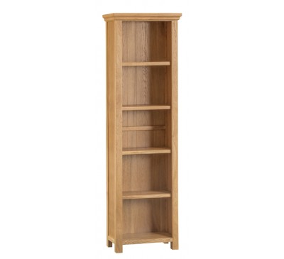 Calbeck Oak Large Narrow Bookcase