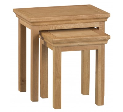 Calbeck Oak Nest of 2 Tables