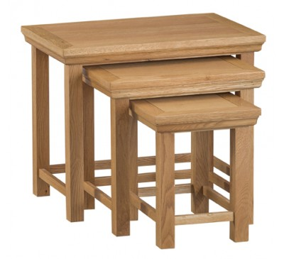 Calbeck Oak Nest of 3 Tables