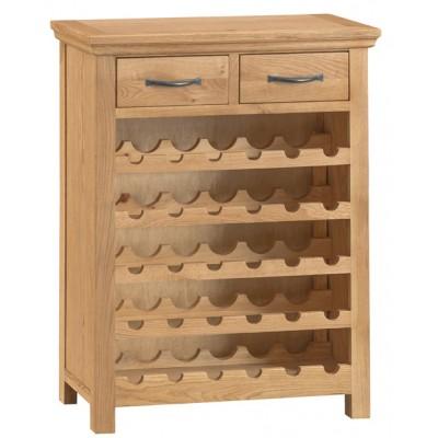 Calbeck Oak Wine Cabinet