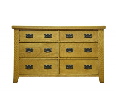 Cambridge Oak Bedroom 6 Drawer Chest