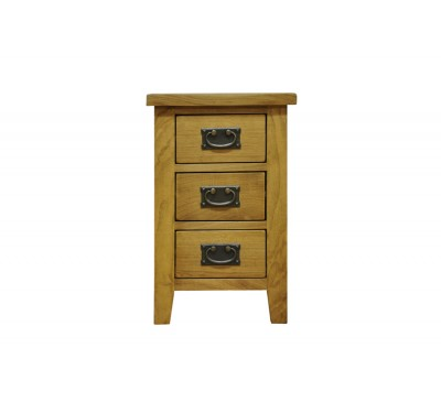 Cambridge Oak Bedroom 3 Drawer Bedside Cabinet