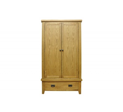 Cambridge Oak Bedroom Gents Wardrobe