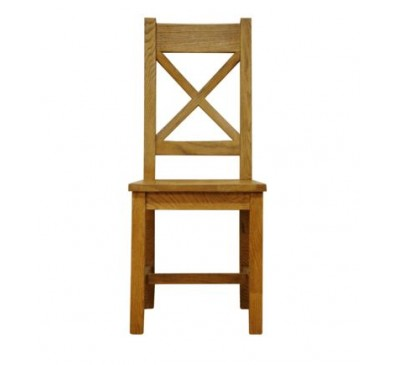 Cambridge Cross Back Chair Wooden Seat