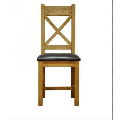 Cambridge Cross Back Chair Pu Seat