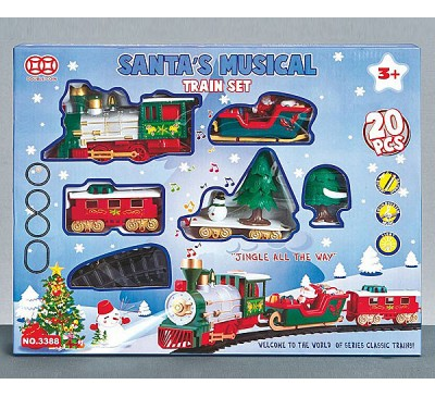Santa Musical Train Set