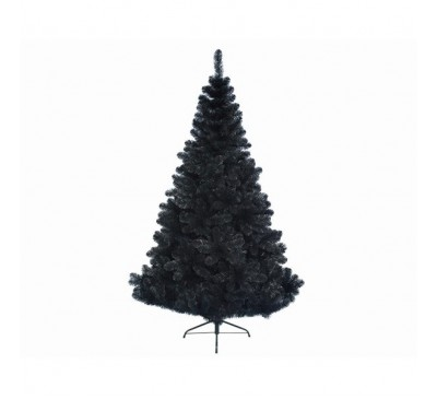 Black Imperial Pine Artificial Christmas Tree 210cm