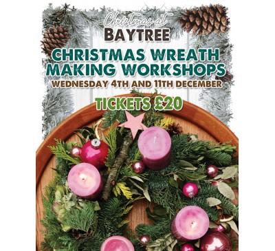 Christmas Wreath Making Workshop Baytree -Weston