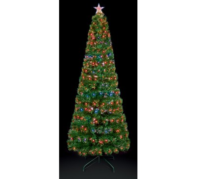 1.5m Slim Led Star Christmas Tree with Colour Changing Led's