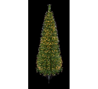 1.5m Slim Fibre Optic Crystal Tip Christmas Tree