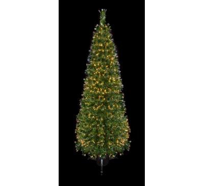 2.1m Slim Fibre Optic Crystal Tip Christmas Tree