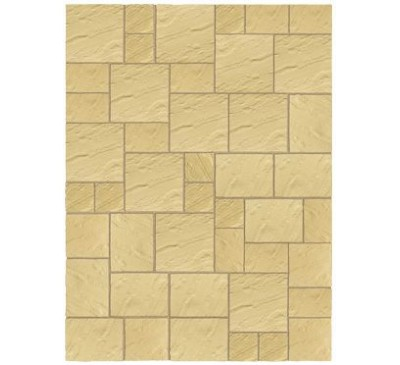 Abbey Paving Random Patio Kit 10.22sq mtr York Gold
