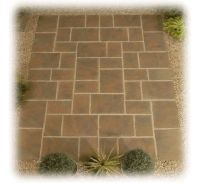 Sandringham Patio Kit 3.6m x 2.7m Autumn Gold