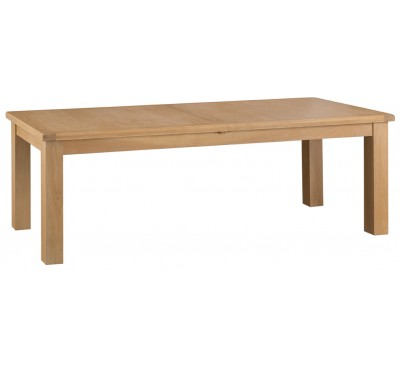 Hawkshead Country Oak 2.4m Butterfly Extending Table - Metal Runner