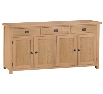 Hawkshead Country Oak 4 Door Sideboard