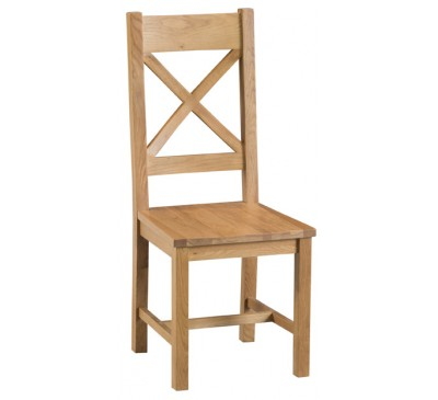 Hawkshead Country Oak Cross Back Chair Wooden Seat