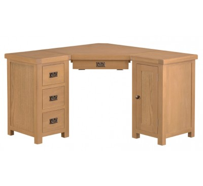 Hawkshead Country Oak Corner Computer Desk