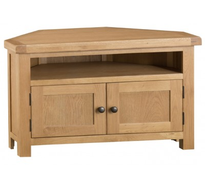 Hawkshead Country Oak Corner TV Unit