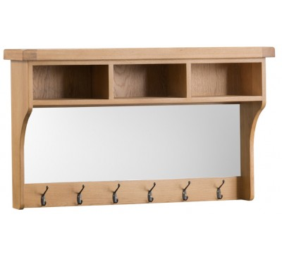Hawkshead Country Oak Half Shelf Unit & Mirror