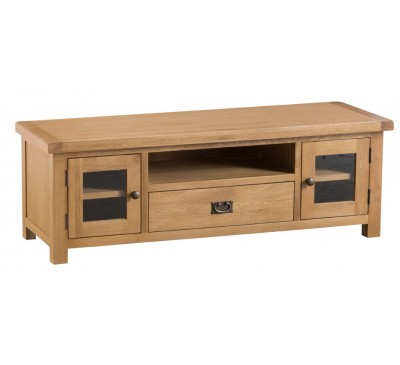 Hawkshead Country Oak Large TV Unit