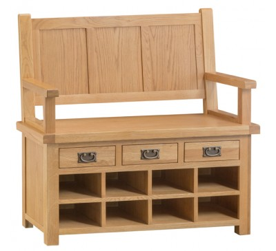Hawkshead Country Oak Monks Bench