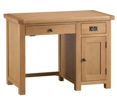 Hawkshead Country Oak Single Computer Desk