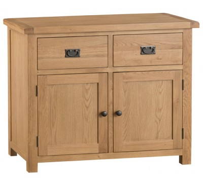 Hawkshead Country Oak Small 2 Door 2 Drawer Sideboard