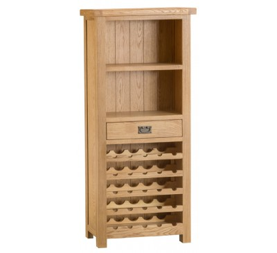 Hawkshead Country Oak Wine Cabinet