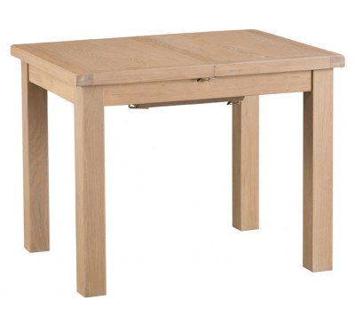 Hawkshead Lime Wash Oak 1m Butterfly Extending Table