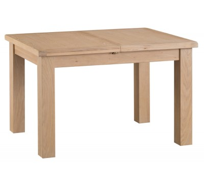 Hawkshead Lime Wash Oak 1.25m Butterfly Extending Table