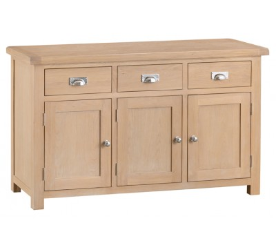 Hawkshead Lime Wash Oak 3 Door Sideboard