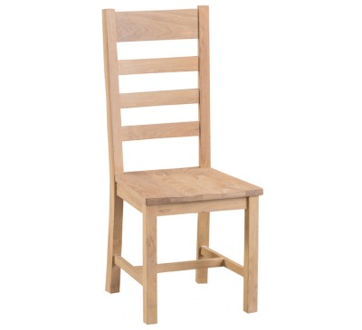 Hawkshead Lime Wash Oak Ladder Back Chair