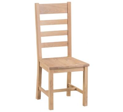 Hawkshead Lime Wash Oak Ladder Back Chair