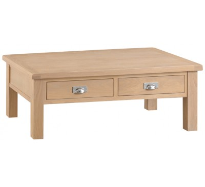 Hawkshead Lime Wash Oak Large Coffee Table